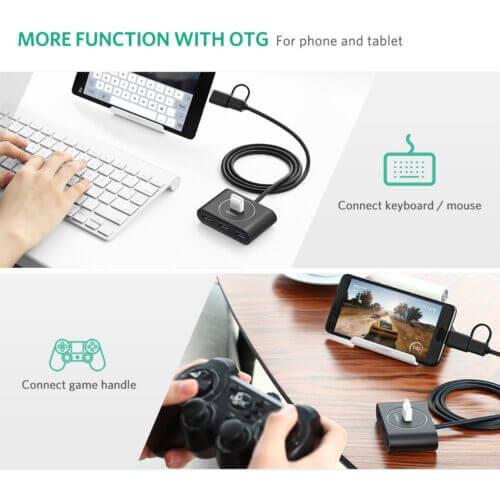 Ugreen 40850 USB Hub 3.0 for USB-C/USB-A Male To USB-A Female