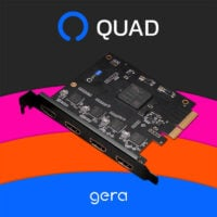 gera QUAD 4 HDMI PCIe Video Capture Card