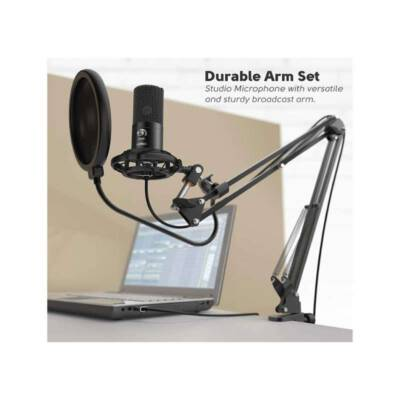 FIFINE T669 USB MICROPHONE BUNDLE WITH ARM STAND & SHOCK MOUNT FOR STREAMING, PODCASTING ON LAPTOP/PC