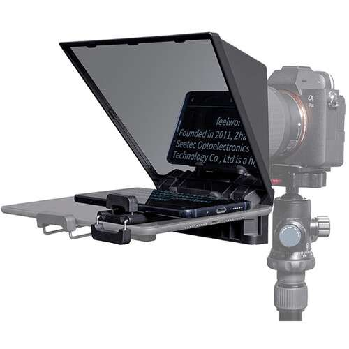 FeelWorld TP2 Portable Teleprompter for SmartphoneTabletDSLR Camera