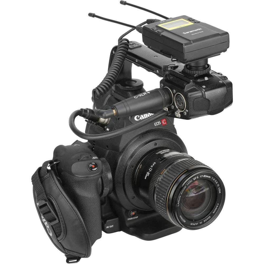 Saramonic C-XLR+ 3.5mm TRS Female to XLR Male Adapter with Phantom Power Converter