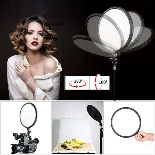 Viltrox VL-500T Round Bicolor LED Light with LCD Display